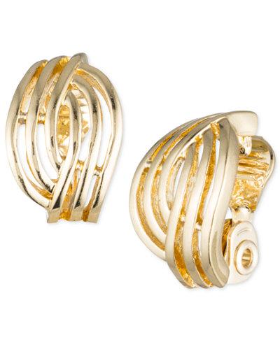Anne Klein Weave-Style Clip-On Earrings