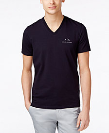 A|X Armani Exchange Men's AX Signature Logo V-Neck T-Shirt