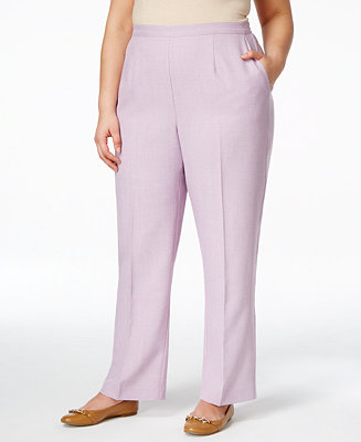 Alfred dunner plus size pull on straight leg pants plus for Alfred dunner wedding dresses