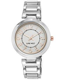 Nine West Women's Stainless Steel Bracelet Watch 36mm NW-1893SVRT