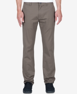 Providing a smooth, modern update to your active casual look, these Modern pants from Volcom feature durable stretch fabric and a comfortable classic fit.