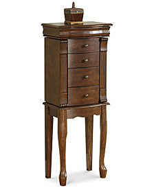 Shelly Louis Philippe Jewelry Armoire, Quick Ship