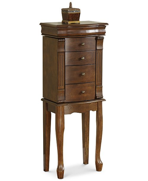 Powell Furniture Shelly Louis Philippe Jewelry Armoire Quick Ship 2 Reviews 209 00 Main Image