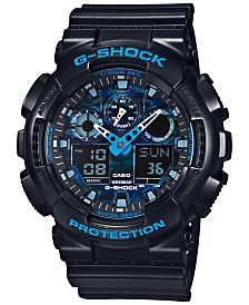 G-Shock Men's Analog-Digital Black Resin Bracelet Watch 55x51mm GA100CB-1A