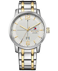 Tommy Hilfiger Men's Casual Sport Two-Tone Stainless Steel Bracelet Watch 44mm 1791214