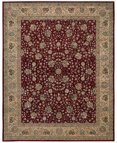 CLOSEOUT! Nourison Wool & Silk 2000 2107 Burgundy Area Rug