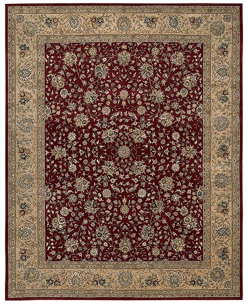 Nourison CLOSEOUT! Wool & Silk 2000 2107 Burgundy Area Rug