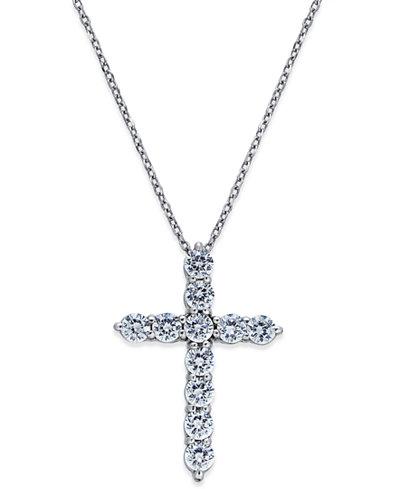 e0a7f9ac74289 Diamond Cross Pendant Necklace (1 ct. t.w.) in 14k White Gold