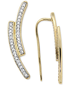Diamond Curve Cuff Earrings (1/5 ct. t.w.) in 14k Gold