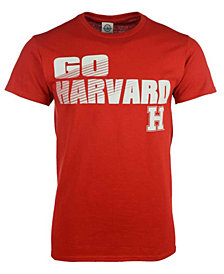 J America Men's Harvard Crimson Slogan Stack T-Shirt