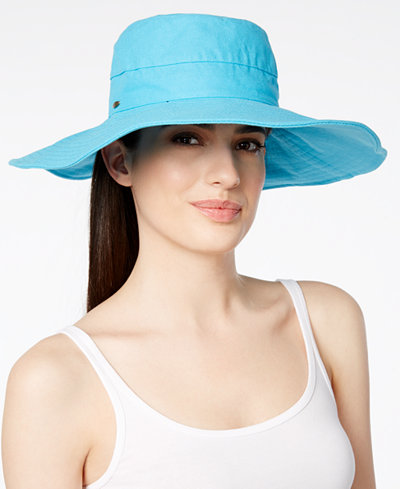 Scala Cotton Canvas Wide Brim Hat