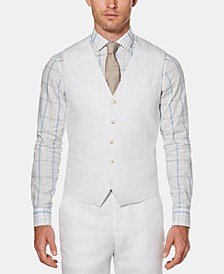 Men's Linen Solid Vest