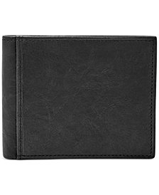 Fossil Men's Ingram RFID-Blocking Bifold with Flip ID Leather Wallet