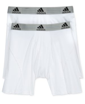 Adidas Originals Adidas Men S Climalite 2 Pack Boxer Brief In White