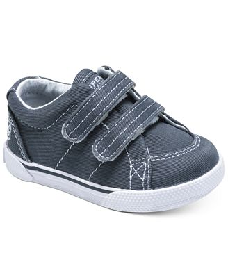Sperry Kids Shoes, Baby Boys Haylard Hook-and-Loop Crib Shoes ...