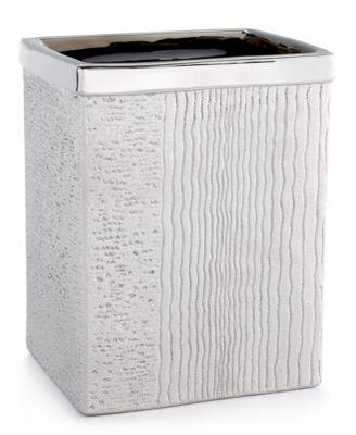 Roebling Stripe Wastebasket