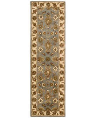 """CLOSEOUT! Area Rug, Rajah Collection JA32 Indore Light Blue 2'4"""" x 8' Runner Rug"""