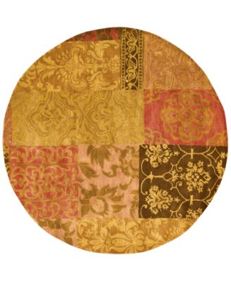 CLOSEOUT! Round Area Rug, Rajah Collection JA42 Nadhir Multi 6'