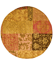 CLOSEOUT! Nourison Round Area Rug, Rajah Collection JA42 Nadhir Multi 6'
