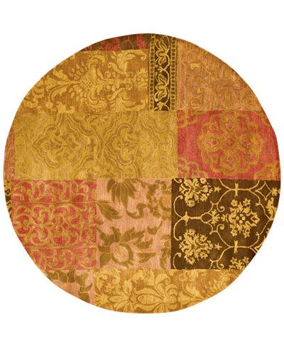 CLOSEOUT! Nourison Round Area Rug, Rajah Collection JA42 Nadhir Multi 6'