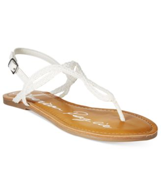 Image of American Rag Keira Braided Flat Sandals, Only at Macy's