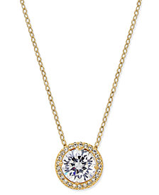 Danori Silver-Tone Crystal Pendant Necklace, Created for Macy's