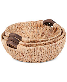 Honey Can Do 3-Pc. Round Storage Basket Set