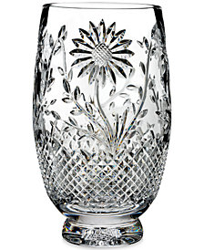 Waterford Master Craft Collection Flora & Fauna Sunflower Vase 10""