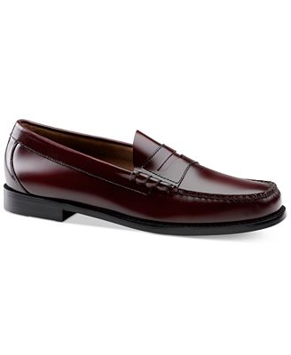G.H. Bass & Co. Larson Weejuns (Burgundy Box Leather) Mens Slip-on Dress Shoes