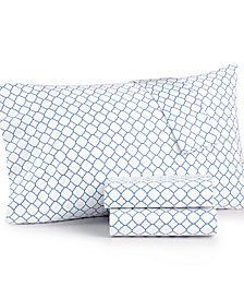Charter Club Damask Designs Printed Geo Twin 3-pc Sheet Set, 500 Thread Count, Created for Macy's