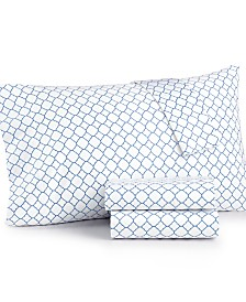 Charter Club Damask Designs Printed Geo Standard Pillowcase Pair, 500 Thread Count, Created for Macy's