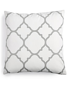 "Charter Club Damask Designs Geometric 18"" Square Decorative Pillow, Created for Macy's"
