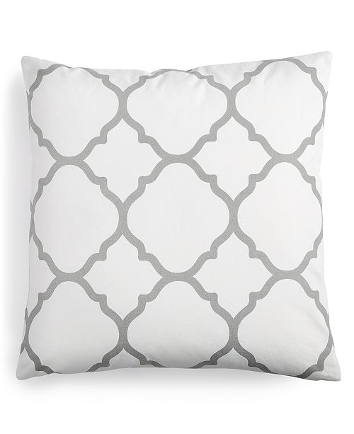 "Charter Club Geometric 18"" Square Decorative Pillow, Created for Macy's"