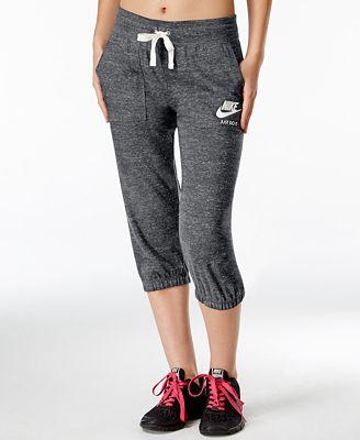 Nike Gym Vintage Capri Pants - Women - Macy's