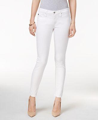 AG White Wash Super-Skinny Jeans - Jeans - Women - Macy's