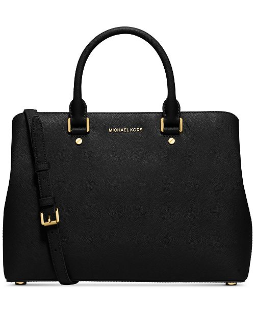 michael kors savannah large satchel handbags accessories macy 39 s. Black Bedroom Furniture Sets. Home Design Ideas