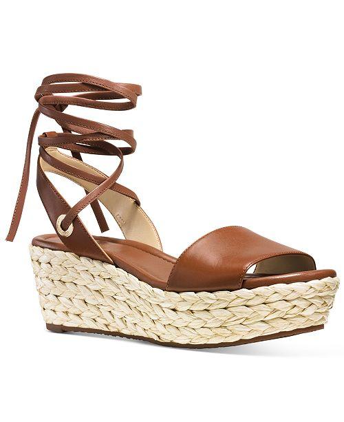 946e3bc74c56 Michael Kors Margie Lace-Up Flatform Espadrille Sandals   Reviews ...