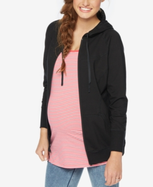 Motherhood Maternity Zip-Front Hoodie plus size,  plus size fashion plus size appare