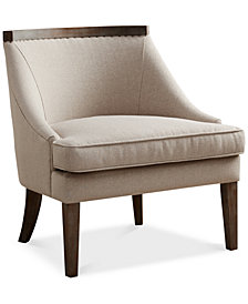 Milo Reclaimed Trim Accent Chair, Quick Ship