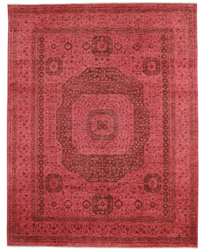 CLOSEOUT!  Fine Rug Gallery, One of a Kind, Manali B600155 Rust 7'11'' x 10'2'' Hand-Knotted Rug