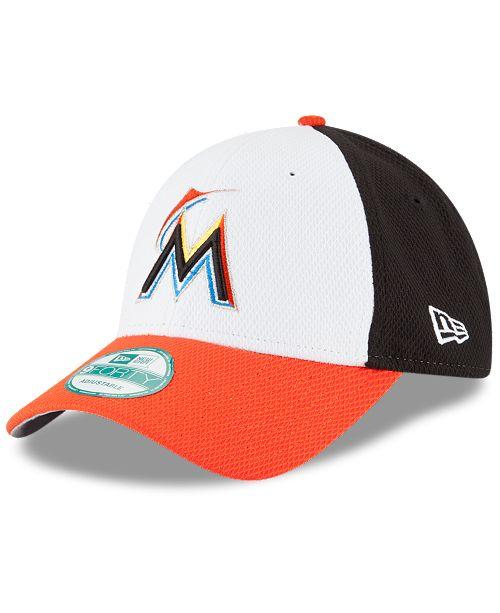 New Era Miami Marlins Perforated Block 9FORTY Cap - Sports Fan Shop ... 5de6c78592c