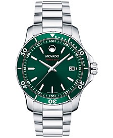Men's Swiss Series 800 Stainless Steel Bracelet Diver Watch 40mm