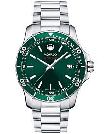 Movado Men's Swiss Series 800 Stainless Steel Bracelet Watch 40mm 2600136