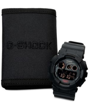 G-Shock Men's Digital Blackout Black Strap Watch and Wallet Set 55x51mm GD120MB-1BOB thumbnail