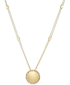 The Fifth Season by Roberto Coin Gold-Tone Circular Pendant Necklace 7771325SY310