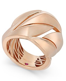 The Fifth Season by Roberto Coin 18k Rose Gold-Plated Sterling Silver Statement Ring 7771140SX650