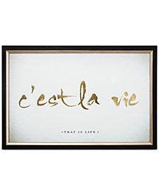 Graham & Brown C'est La Vie Metallic Framed Print