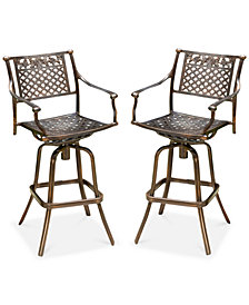 Lakelin 2-Pc. Outdoor Bar Stools, Quick Ship