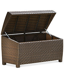 Carlan Wicker Store Chest, Quick Ship