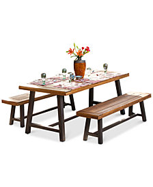 Tysen 3-Pc. Picnic Dining Table Set, Quick Ship